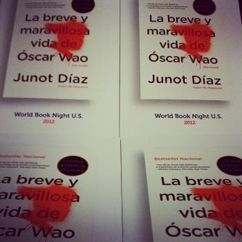 Photo of World Book Night books (Oscar Wao)