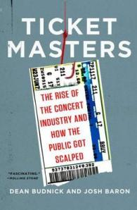 Book cover: Ticket Masters by Dean Budnick and Josh Baron