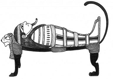 Illustration: ancient Egyptian sarcophagus