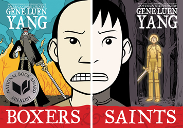 Book covers: Boxers and Saints by Gene Luen Yang