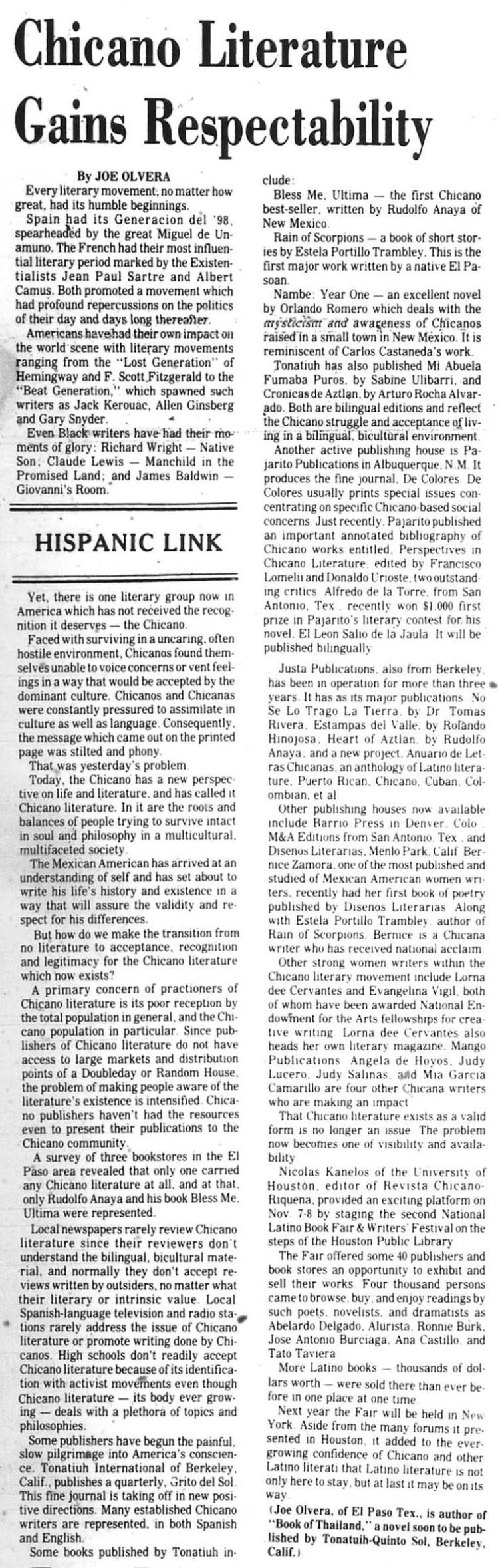 Chicano Lit 1980